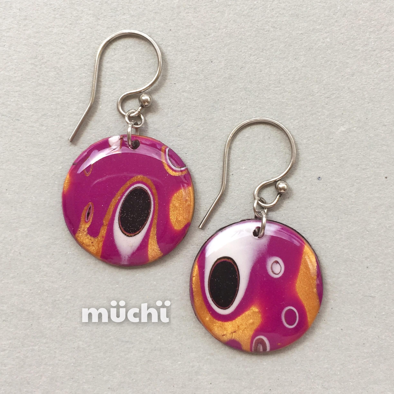 Mokume Gane Earrings: Mokume Gane