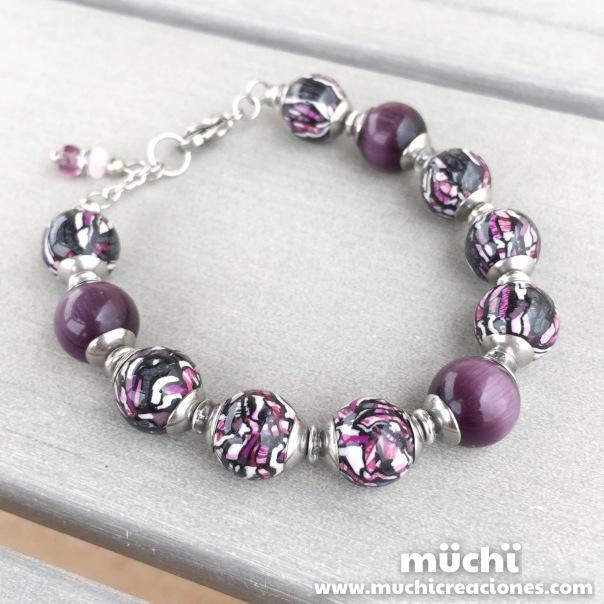 93. Polymer clay bracelet fimo stroppel